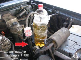 Как развоздушить топливную систему дизельного двигателя?